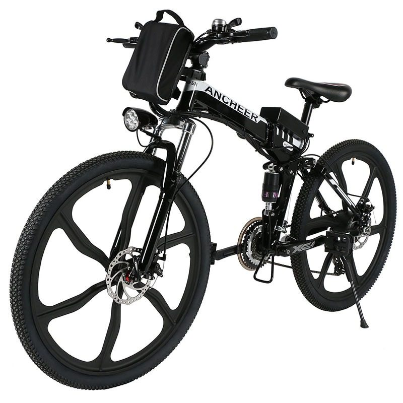 Best Electric Mountain Bike >> Ancheer 21 Speed Folding Electric Mountain Bike Best Motorized Bike