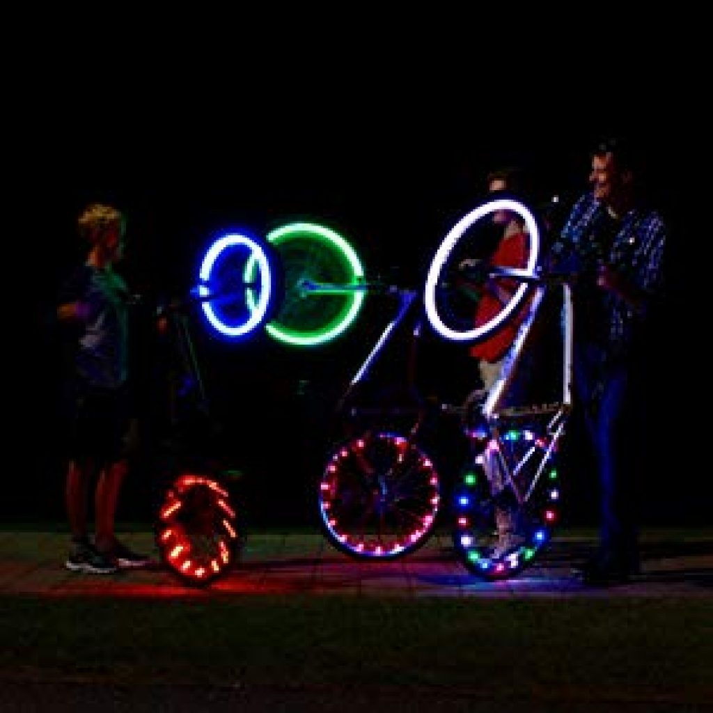 Activ Life LED Bike Wheel Lights with Batteries Included