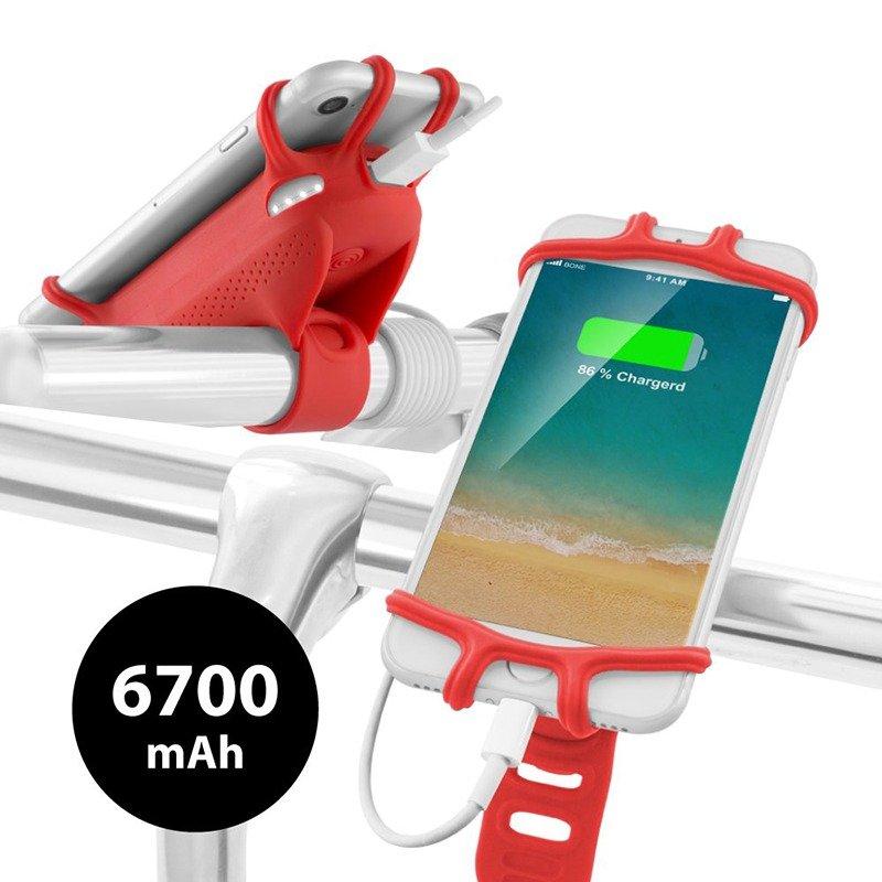Bike Mount USB Portable Charger 6700mAh Power Bank