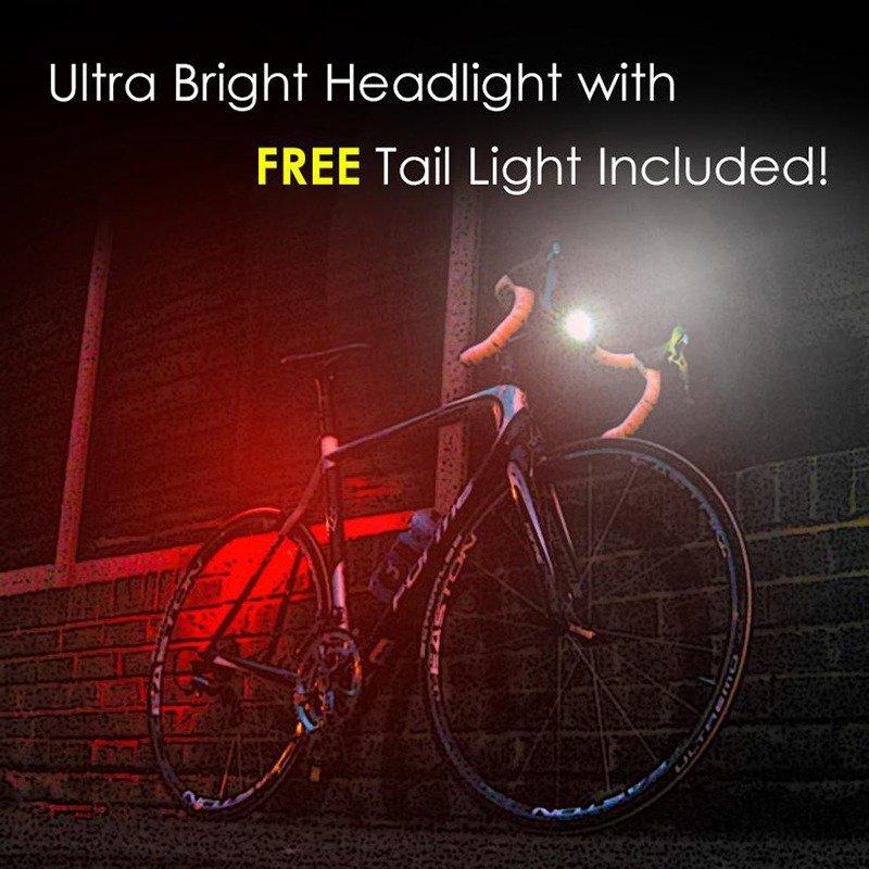 Rechargable bike Led light set