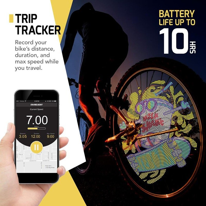 SWAGLIGHT Bike Spoke Lights Mobile App & Theft Alarm