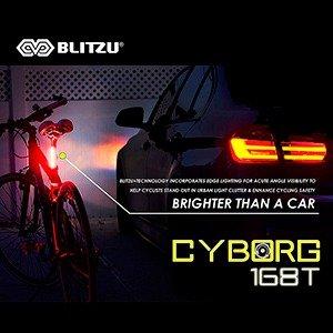Ultra-Bright-Bike-Light-Blitzu-Cyborg-168T-USB-Rechargeable-Bicycle-Tail-Light
