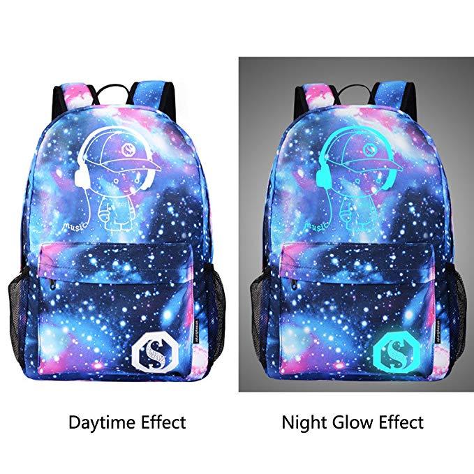 Anime Luminous Backpack Outdoor Backpack Daypack School Bag Laptop Bag