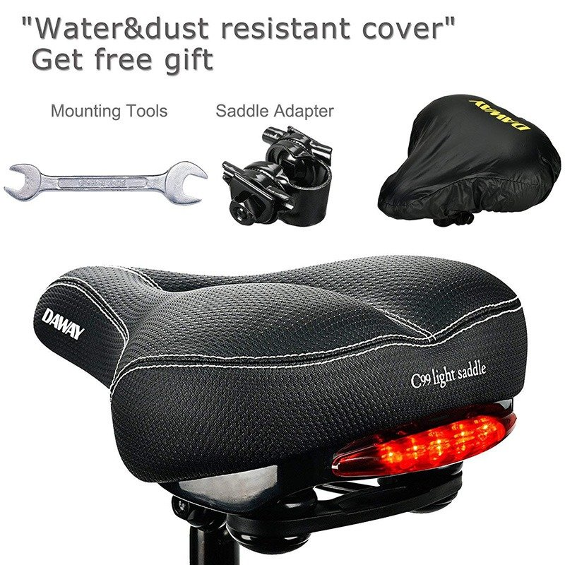 Bicycle Seat Cushion with Tailight